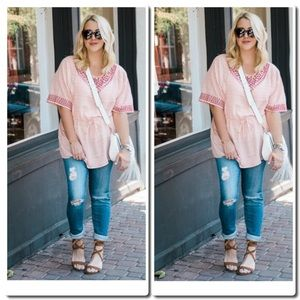 Anthropologie Peasant Top by One September