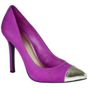 Shoes - Gold Toe Pink Suede Pumps