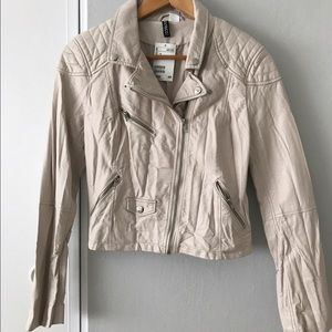 Faux white leather jacket BRAND NEW