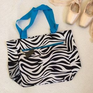 Handbags - NWT Zebra-Print Tote Bag