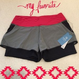 *NWT* MPG workout shorts w/ built in biker shorts