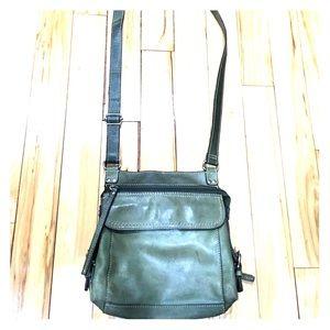 Fossil Handbags - 🗝Fossil green leather cross body messenger purse