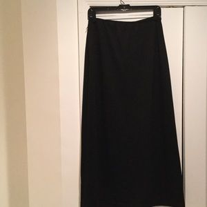 Central Park West Dresses & Skirts - Ladies slight flare black wool like skirt M. NWT