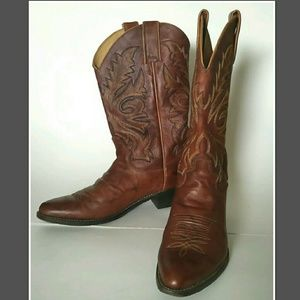 Justin Boots Other - Justin's Chestnut Marbled Deerlite Leather Boot 7B