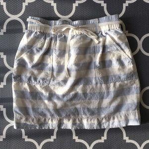 LOFT light blue striped skirt