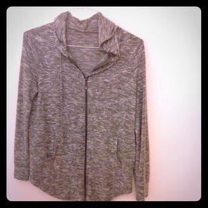 Super Soft full zip gray hoodie
