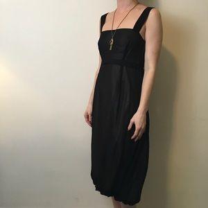 Chaiken Dresses & Skirts - Chaiken Black Silk Midi Sleeveless Dress