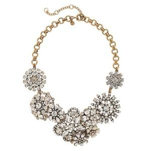 {j. crew} 🌿 lattice flower statement necklace