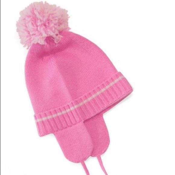 b813ba5696f Baby Girl Pom Pom Hat Pure Cashmere Pink