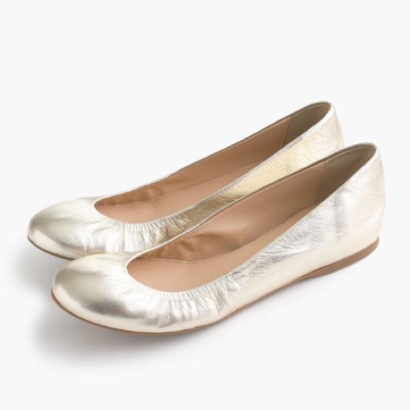 J. Crew Shoes - J. Crew Gold Ballet Flats - Cece Metallic Flats 5534fbc3b
