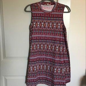 Pink Rose Dresses & Skirts - Aztec Print Swing Dress