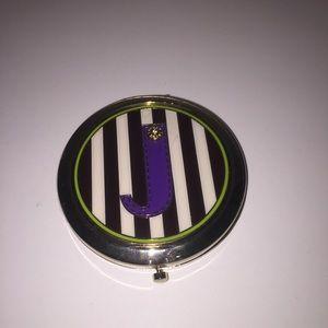 "henri bendel Other - Henri Bendel compact mirror with ""J"""