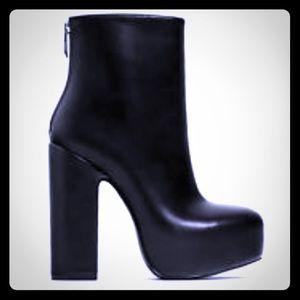 Zara special edition platform heel booties