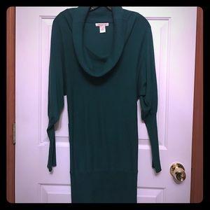 Arden B Sweaters - Arden B long tonic green sweater