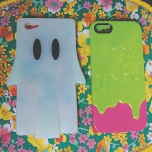 Accessories - Bundle Lot 2 iPhone 5 5S Ghost & Slime phone case