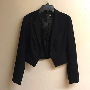 Black H&M cropped blazer