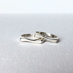 Sterling Silver Wave Rings