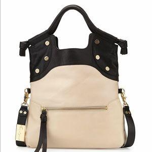 Foley + Corinna Handbags - Foley & Corinna Lady Convertible Tote Black & Ecru