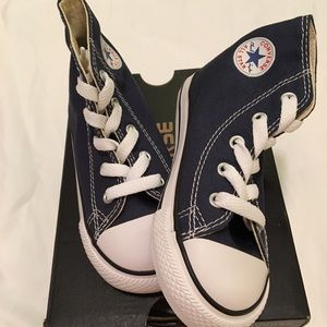 Converse Other - NWT toddler Converse navy sneakers