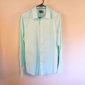 Express Other - Express 1MX Men's Dress Shirt Green M 15 - 15.5