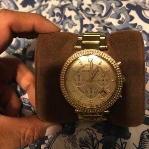Michael Kors Accessories - Michael Kors Parker gold watch