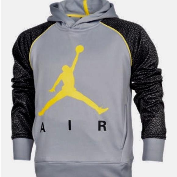 f20a3d748fbb Air Jordan Other - Air Jordan Elephant Print Gray Yellow Hoodie