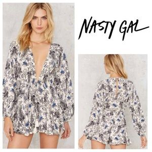 Nasty Gal Dresses & Skirts - NEW!  Nasty Gal Cliffside Paisley Romper in size M