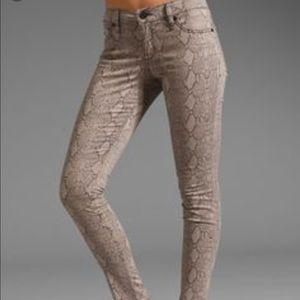 bebe Pants - Bebe snake print jeans
