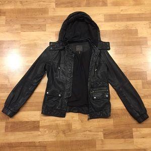 Joie Washed Lambskin Leather Jacket