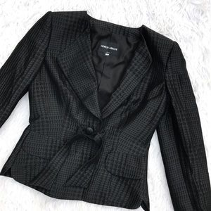 Giorgio Armani Jackets & Blazers - • Armani • Black Silk and Wool Blazer