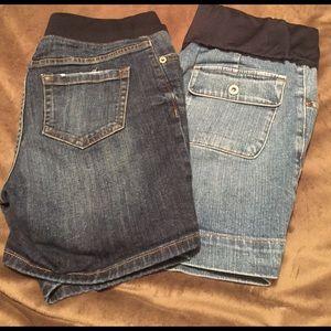 2 Pair Maternity Shorts