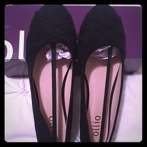 Black Ollio® ballet flats