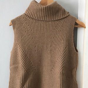 Madewell Camel Turtleneck Sweater tank top