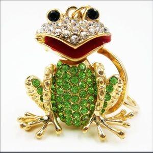 Jeweled Frog Purse Charm