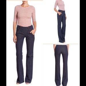 Akris Pants - Akris Punto Women's Blue Fiona Denim Flare Pants
