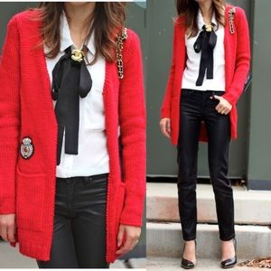 Maje Sweaters - Maje Beautiful Red Sweater Cardigan