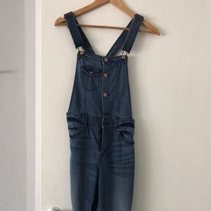 Denim Overall with button detail
