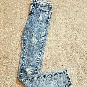 Refuge high waist acid wash  skinny jeans
