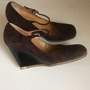 BALLY Shoes - BALLY SUEDE WEDGE MARYJANE size 6