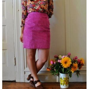 Dont Stop Dresses & Skirts - Don't Stop Vintage Pink Leather Pencil Skirt 7/8