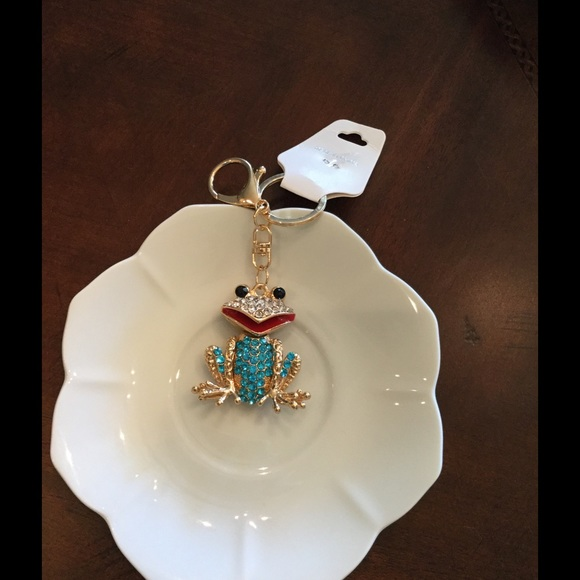 Boutique Accessories - Blue Jeweled Frog