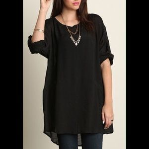 Tops - PLUS SIZE shift tunic top shirt