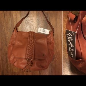 Elliott Lucca Handbags - NWT Elliot Lucca Cognac Leather Shoulder Bag