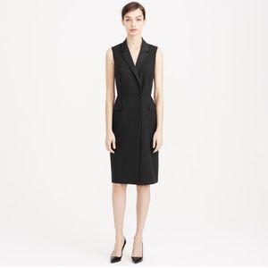 Tuxedo wrap dress in Italian wool crepe - J.Crew