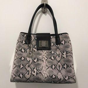 Charles Jourdan Handbags - ‼️Charles Jourdan Paris Snakeskin Embossed Satchel