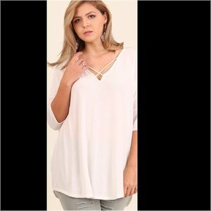 Tops - NWT PLUS SIZE strappy top shirt blouse