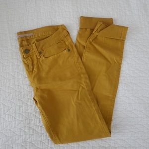 Mustard yellow Vince skinny jeans