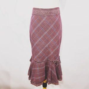 Free People Dresses & Skirts - FREE PEOPLE TIERED MIDI SKIRT 2 SMALL