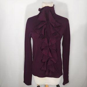 Diane von Furstenberg Sweaters - DIANE VON FURSTENBURG WOOL PLUM SWEATER MEDIUM