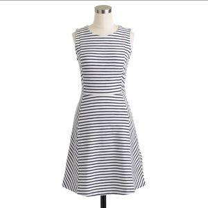 J. Crew Dresses & Skirts - J. Crew navy striped ponte dress M